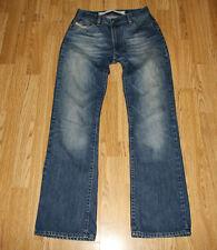 Vintage Blue Denim DIESEL INDUSTRY Zip Stonewashed Straight Leg Jeans Sz 28 L 31