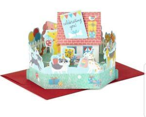 Hallmark Paper Wonder Pop Up Birthday Card Puppy Dog Celebration