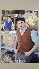 Sirdar Knitting Pattern #7394 Men's Waistcoat Vest to Knit Harrap Tweed DK Yarn