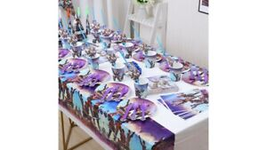 Fortnite Gamer Birthday Party Supplies Disposable Tableware Set Decorations