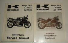 1990 1991 1992 1993 1993 E1 Kawasaki Ninja ZX-6 600 Service Manual & PARTS GUIDE