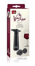Vacu Vin el vino mostrar vino Saver Regalo Paquete Negro