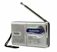 Receiver Portable World Antenna AM/FM Radio Mini Slim Pocket Size Telescopic