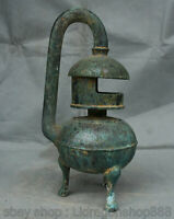 "11.4 ""Antiquité Bronze Chinois ancien Ware Dynasty Palace 3 Legs palace lantern"