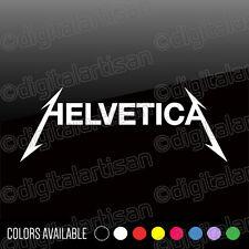 Metallica HELVETICA Typography Vinyl Decal Sticker Graphic Design - SET OF 2
