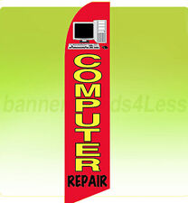 COMPUTER REPAIR Swooper Flag Feather Flutter Banner Sign 11.5' - rb