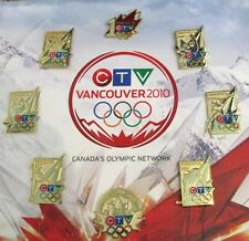 Vancouver 2010 limited & rare 2010 CTV rare Olympic Media 8 pin mounted set