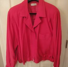 Elisabeth From Liz Claiborne Hot Pink Fuschia Ladies Jacket Plus Size 22