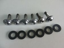 SUZUKI  FOOT PEG BOLTS AND NEW RUBBERS