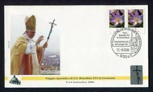 23834) Vatican 2006 FDC 'Geocover' Pope Benedict XVI IN Redensbug Germany