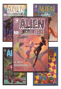Alien Encounters #1-9 VF/NM 9.0+ 1985-1986 Eclipse Comics Alien Worlds sequel