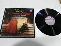 BERLIOZ LA DAMNATION DE FAUST SELECCION LP VINYL VG+/VG+ 1989 SPANISH ED DECCA