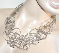 COLLAR mujer gargantilla plata alambres elegante collier colar ожерелье G10
