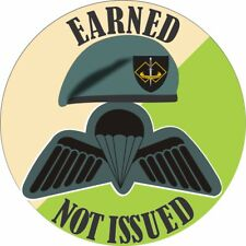 EARNED -  NOT ISSUED 2ND COMMANDO REGIMENT  LAMINATED VINYL STICKER 110MM DIA