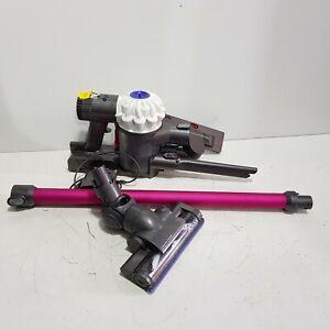 Dyson V6 Cordless Handheld Vacuum Cleaner + Mount - 14 Min Battery - White Pink