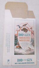 Vtg Rod and Gun Smoking Mixture Empty Box John Weisert Tobacco Co. Dog Duck 1964