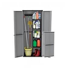 Compact Garden Shed Plastic Waterproof Large Storage Tools Box Broom Cupboard UK