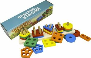Cracker of A Stacker Wooden Stacking Toy by Little Roos | Durable Educational Pr