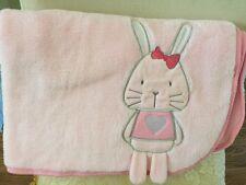 Teeny Weeny Pink Rabbit Baby Blanket