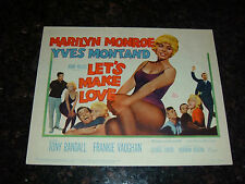 "LET'S MAKE LOVE Original 1960 Title Lobby Card, 11"" x 14"", C7.5 Very Fine Minus"