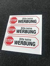 3x Briefkasten Aufkleber - Bitte keine Werbung -