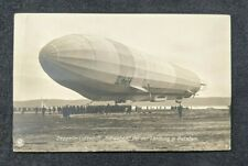 Vintage Zeppelin Luftschiff Schwaben Real Photo Postcard RPPC
