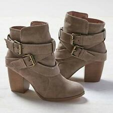 Women Mid Heel Short Ankle Boots Winter Martin Snow Botas Warm Heels Boot Shoes