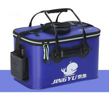 Portable Folding Fish Wear Bucket Outdoor EVA Fishing Tackle Boxes with Handle F