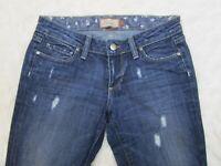 "Paige Jeans Laurel Canyon Distressed Denim Bootcut Womens Size 27P/31"""