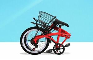 folding bicycle high carbon steel paint frame compact pedal children's adult