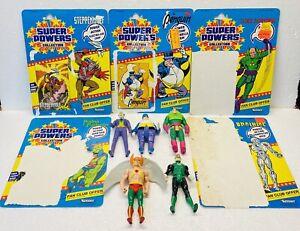 Super Powers Kenner 1984 & 1985 Figures & Cards Lot. Green Lantern, Joker. Used