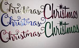 Large Christmas Die Cuts X 10