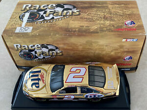 1/24 Gold Rusty Wallace Miller Lite Car #2 Ford Taurus Action Diecast 101225