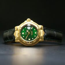 RARE Tag Heuer Automatic WH234 18K Solid Gold Green Dial 200m Lady's Dive Watch