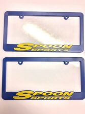SPOON SPORTS RACING License Plate Frames, Raised Letter HONDA JDM TYPE R NEW