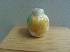 Dolls House Miniature Accessory 1/12th Scale Yellow Floral Vase New*