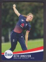 Tap N Play - England Cricket 2018 - Base # 53 Beth Langston