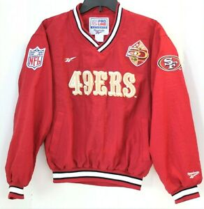 San Francisco 49ers NFL Pro Line Windbreaker Reebok Jacket Youth Size L