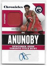 2017-18 Chronicles OG ANUNOBY AUTO RELIC RC SP Rookie 33/99 Toronto Raptors