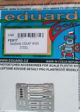 Eduard 1/48 FE817 Colour Steel Etch WW2 USAAF Fighter Seatbelts