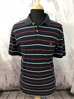 Brooks Brothers Mens 346 Polo Shirt Short Sleeve Striped Blue Red Sz Large