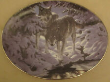 Wolf collector plate Icy Dawn Persis Clayton Weirs Winter Shadows wolves
