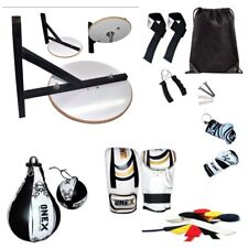12 Pcs Boxing Training Speed Ball+Platform Set Adjustable Stand Gloves Bracket