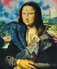 MONA LISA  Original Art Painting Canvas Cuba YOANDRIS PEREZ BATISTA