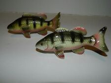 Vintage Realistic Fish Salt & Pepper Shakers Smallmouth Bass - Japan