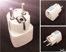 HUCA White US UK to EU Euro Plug AC Power Travel Home Charger Adapter Converter