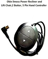 Limoss Okin 2B,5PIN Remote Hand Controller For Power Recliner or Lift Chair 90°