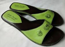 Soft Style by Hush Puppies Green Heel Slides Sandals Size 7 M