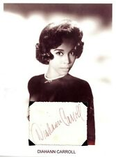 Diahann Carroll Autograph Dynasty The Hollywood Palace Julia No Strings #1