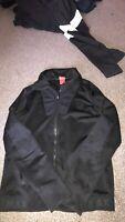 NIKE AIR MAX mens Black Hooded Zip Front Jacket Size UK M